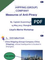 Session 2 Presentation 5 China Shipping Group Anti Piracy