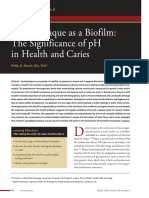 Dental Plaque as a Biofilm the Significance of PH in Health and Caries p Marsh