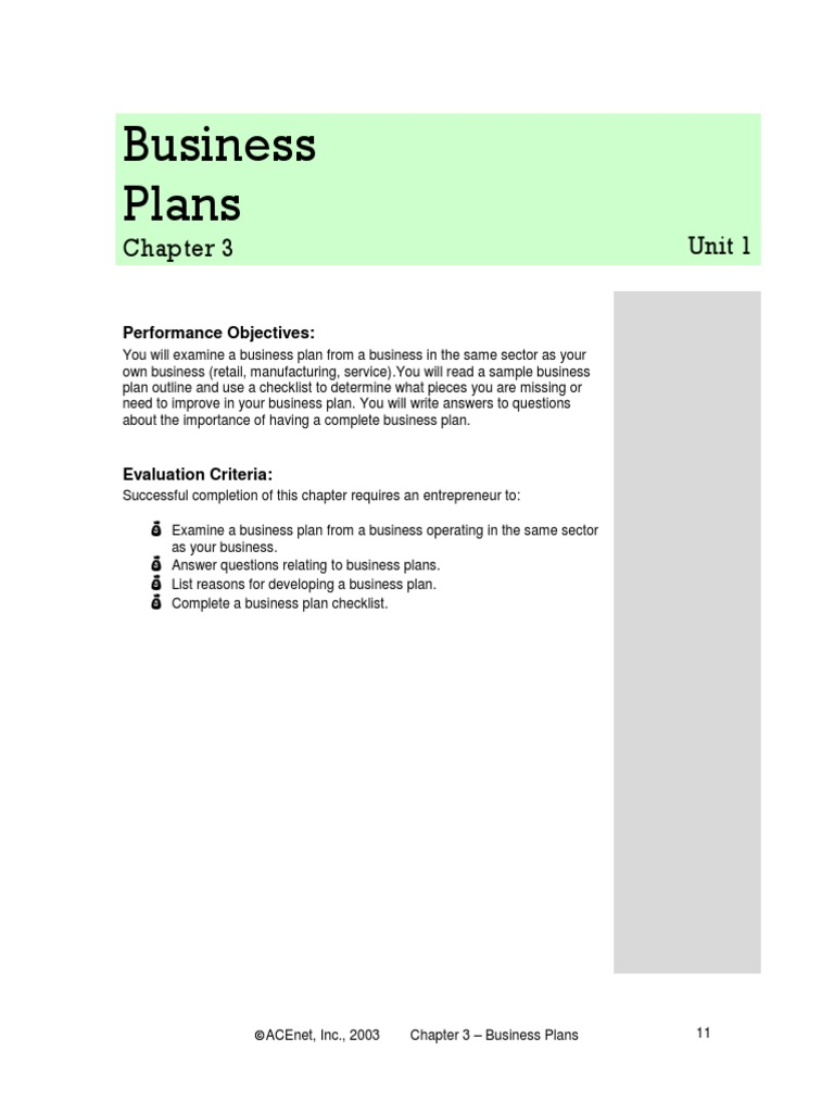 chapter 3 business plans business plan financial statement