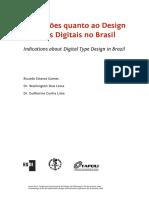 Indicações quanto ao Design de Tipos Digitais no Brasil
