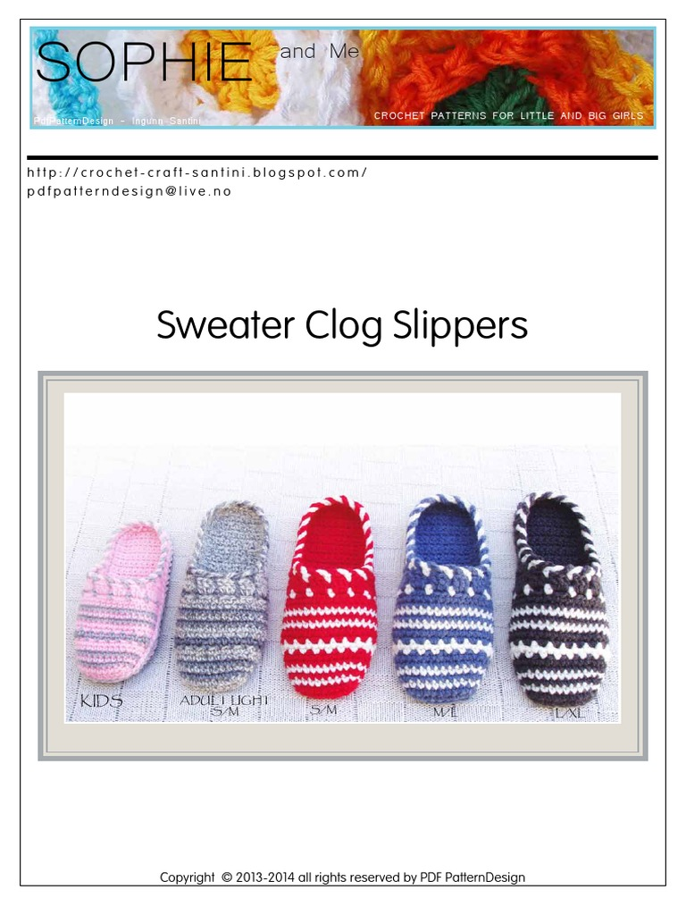 965741f9652733 Sophie and Me - Sweater Clog Slipperssssssssssssssss