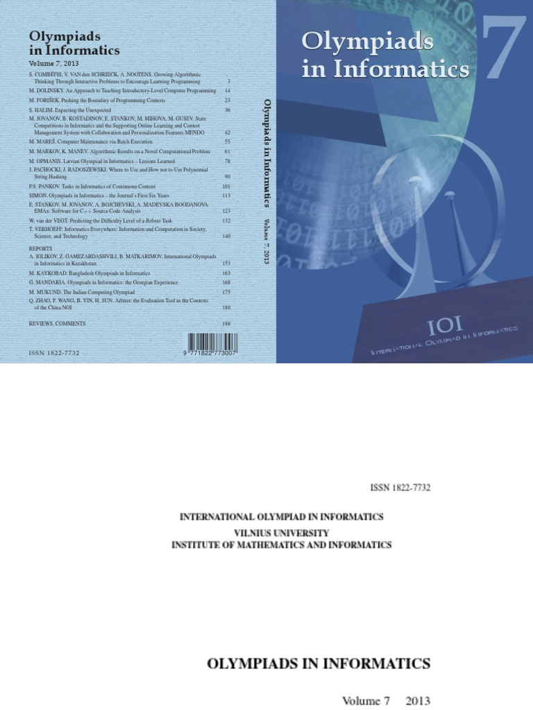 Volume 7 | Educational Technology | Algorithms