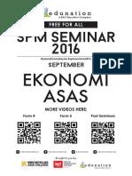 Seminar Ekonomi Asas SPM 2016 Set Dua- Tingkatan Lima