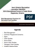 Risk Management for Rec Facilities
