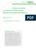 AST-0171093 Addressing Cyber Security Concerns of Data Center Remote Monitoring Platforms