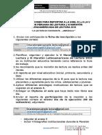 8 31agosto2016 Recomendaciones Quinta MARATON PERUANA de LECTURA Ok
