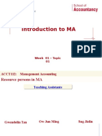 Week 01 - Topic 01 - Introduction to Management Accounting