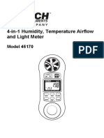 4-in-1 Humidity, Temperature Airflow and Light Meter