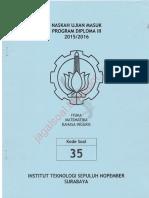 Soal UM D3 ITS 2015 Kode 35 Jagalsoal.blogspot.com