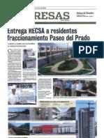 Entrega RECSA a Residentes Fraccionamiento Paseo Del