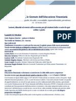 Programma Completo Festival Economia 24.28 Ottobre 2016