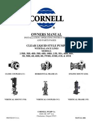 Clear Liquid Pump Manual | Screw | Bearing (Mechanical)