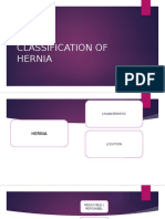 Classification of Hernia