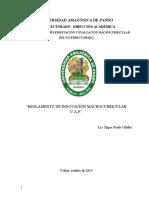 Reglamento de Innovacion Macrocurricular