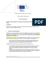 Support for Television Programming of Audiovisual European Works