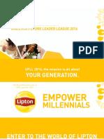 UFLL 2016 Lipton Case Challenge 1