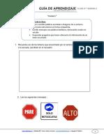Guia de Aprendizaje Lenguaje 1BASICO Semana 4 2015 (1)