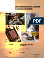 Research on the usability of low-cost materials in dye sensitized solar cells