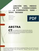 Evaluación Del Medio Ambiente Condiciones de Nan Shih Corrienteen Taiwan (1)