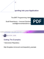Integrating Reporting into your Application