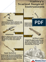 History's Scariest Surgical Instruments Infographic