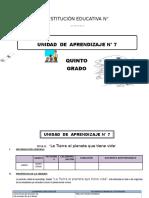 UNIDAD DE APRENDIZAJE 5° DE ED. PRIMARIA SEPTIEMBRE 2016