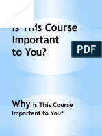 Week 1 - Is This Course Important (2014)