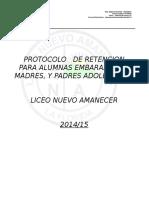 Protocolo Alumnas Embarazadas Liceo Nuevo Amanecer