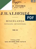 ESCRITOS POSTUMOS DE J B ALBERDI - TOMO XIII - ANO 1900 - PORTALGUARANI