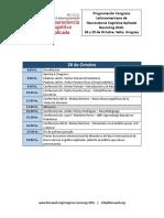 Programación Congreso Latinoamericano de Neurociencia Cognitiva Aplicada