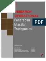 Research Operasional Penerapan Masalah Transportasi