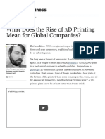 What Does the Rise of 3D Printing Mean for Global Companies