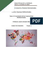 Exposision Multinacional Crecimiento de Empresas m Ultinacionales