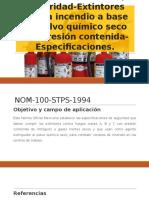 NORMA Oficial Mexicana NOM-100-STPS-1994, Seguridad-Extintores Contra Incendio
