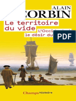 Territoire Du Vide Le Corbin Alain