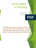 Behavioral Aspect of Housing