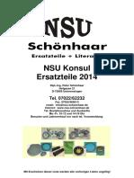 Katalog NSU Konsul