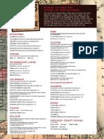 Rylon's Smokehouse menu