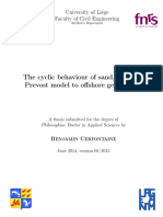 The Cyclic Behavior of Sand, Form the Prevost Model to Offshore Geotecnics