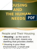 LECTURE 01 Housingandhumanneeds