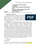 The Role of Ethnomathematics Within Mathematics Education (Tugas)