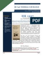 The C4C Federal Exchange Newsletter    (October/November 2016)