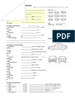 Used Car Inspection Checklist