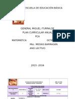 Plan Curricular Anual Octavo Matemática Va Primero