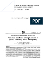 Numerical Simulation of Displacements in Systems Containing a Lens Heterogeneity