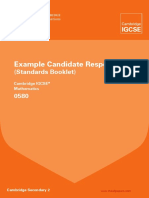 0580 Mathematics Example Candidate Responses Booklet