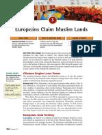 Ch 27 Sec 3 - Europeans Claim Muslim Lands