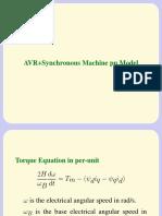 AVR+Synchronous Machine pu Model
