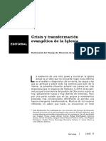 245-10-EDITORIAL-Iglesia Viva Crisis y Transformacion Evangelica de La Iglesia Vaticano II