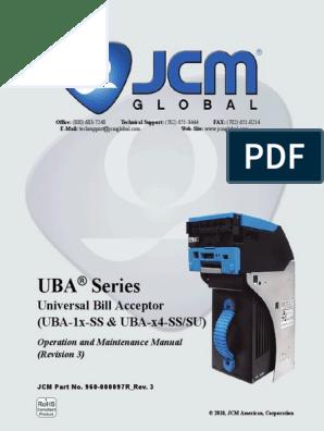 UBA JCM Service Manual | Electrical Connector | Banknote